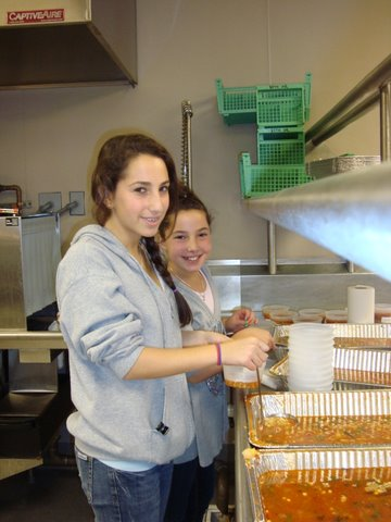 Mitzvah project soup cooking