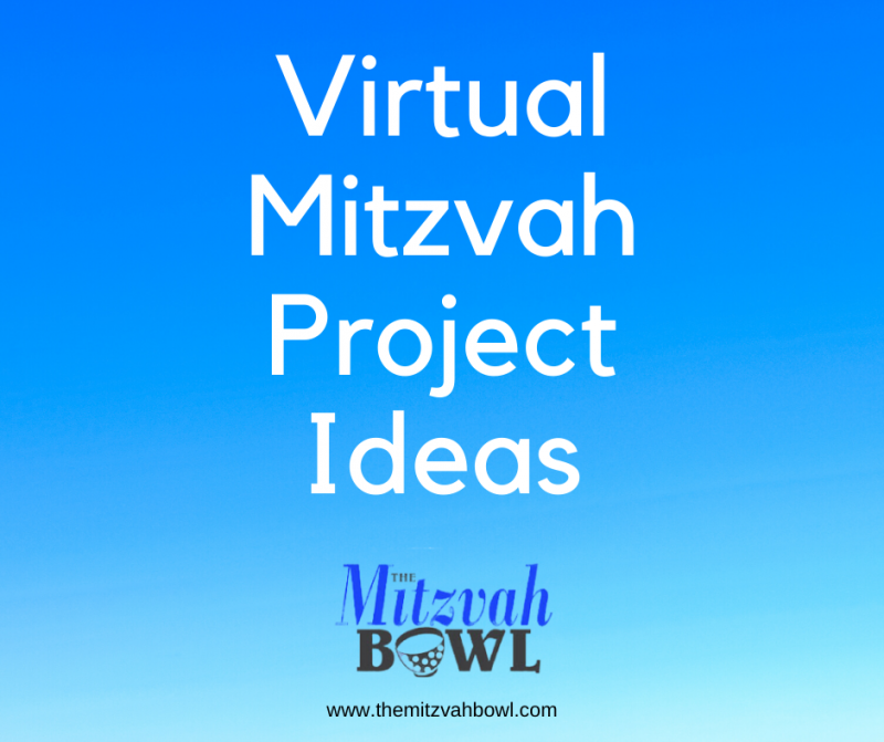 Virtual Mitzvah Project Ideas